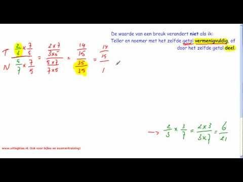 ▶ Breuken (deel 6, een breuk gedeeld door een breuk) - YouTube