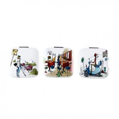 """Regalos de Bodas. Obsequios para los invitados: Espejo Metálico Aluminio """"Fashion"""". Envio a toda España. #regalos #bodas #espejos"""