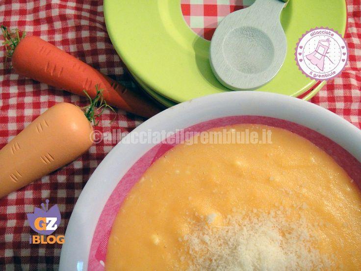 CREMA DI CAROTE E LATTE - ricette per bambini -