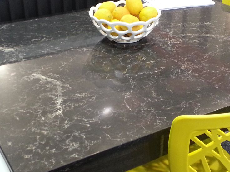 Caesarstone Vanilla Noir My Dream Kitchen Designed and manufactured by Di Rosa Cabinetry & Furniture, table and bench top fabricated by Pacific Stone