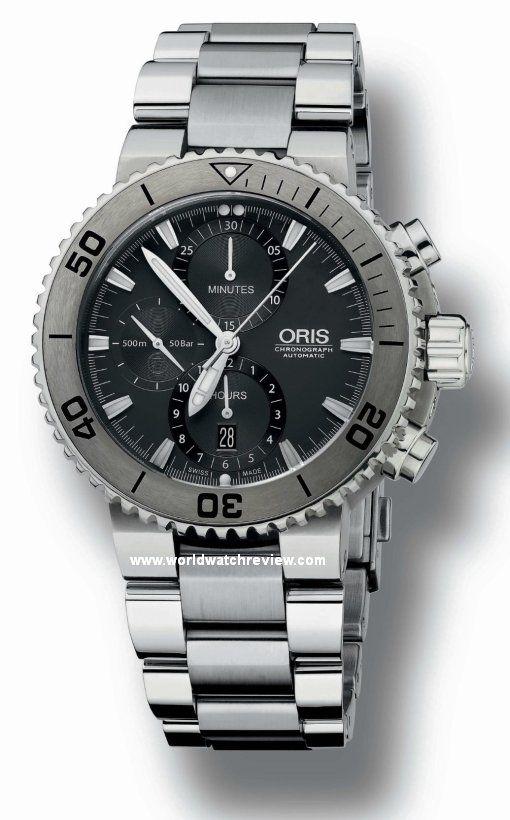 Oris Aquis Titan Chronograph Automatic Diving Watch