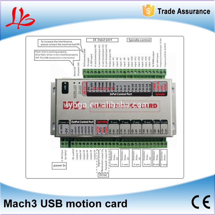USB Interface CNC Motion Controller Mach3 motion card for 3 axis 4 axis 6 axis