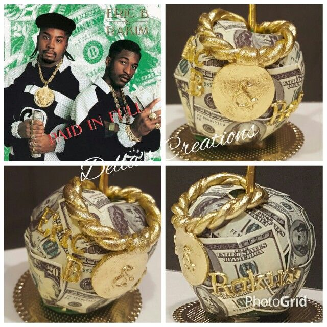 Eric B. and Rakim - Paid in Full album cover themed candy apple. All edible!!!