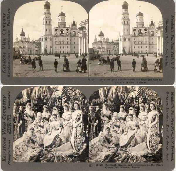 18 Stereofotos Russland Russia Moscow um 1900.