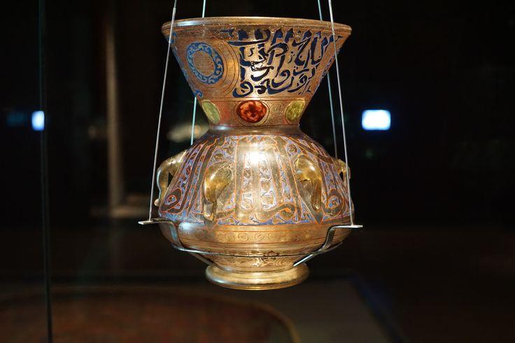 Mosque lamp. Museum of Islamic Art. Doha Qatar.
