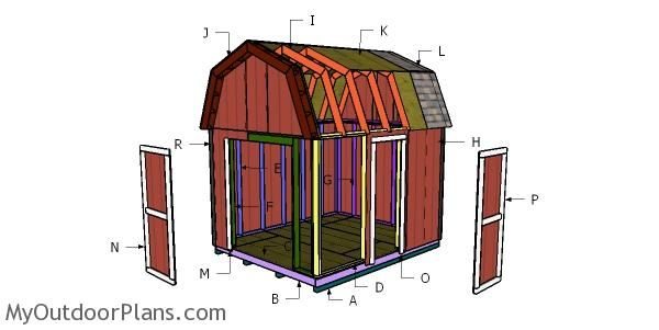 10x12 Gambrel Shed Free Diy Plans Myoutdoorplans Free Woodworking Plans And Projects Diy Shed Wooden Playhou Pergola Diy Storage Shed Plans Barns Sheds