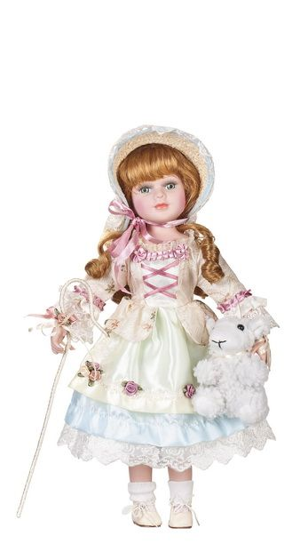 Little Bo Peep, 16-inch porcelain doll by Goldenvale
