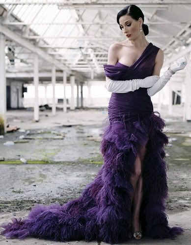 Dita Von Teese in purple dress  | Purple passion | More purple lusciousness here: http://mylusciouslife.com/purple-passion/
