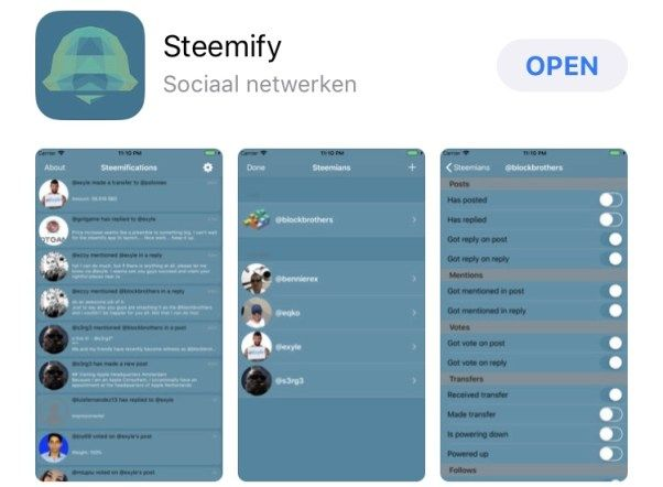 Steemify is a great push notification app! Finally we have a solid one for Steemit!