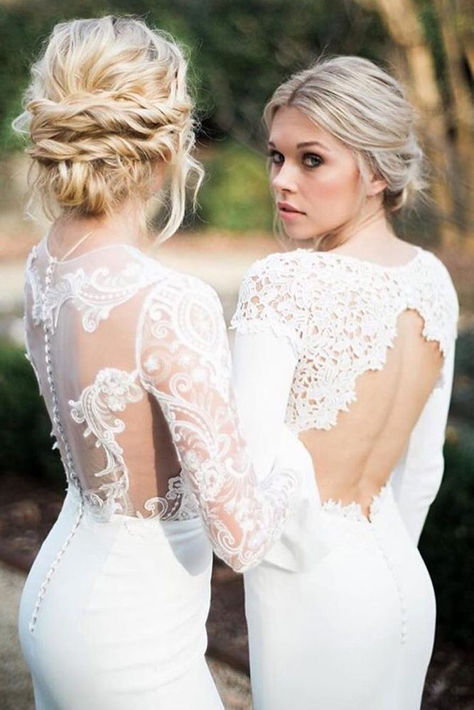 Perfect Combinations Of Wedding Hairstyles And Bridal Dresses