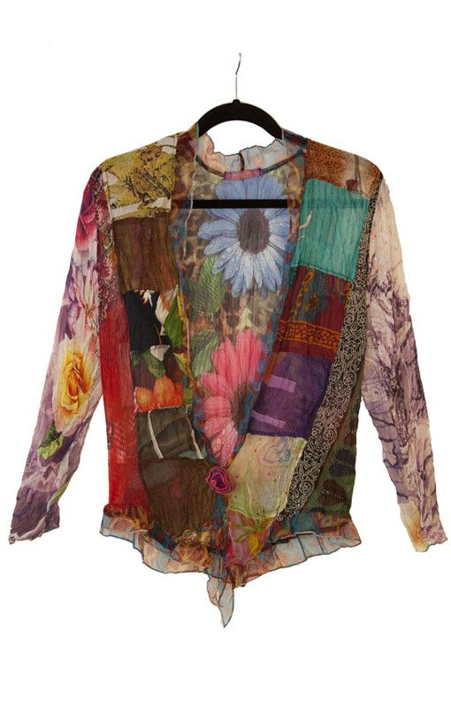 Patchwork Jacket (2 Styles to Choose from). High quality chiffon jacket, casual loose fit elegance. Beautifully patterned top to bottom. $115.00 #patchwork #jacket #chiffon #fashion