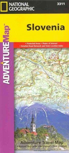 National Geographic Adventure Map Slovenia (Adventure Map)