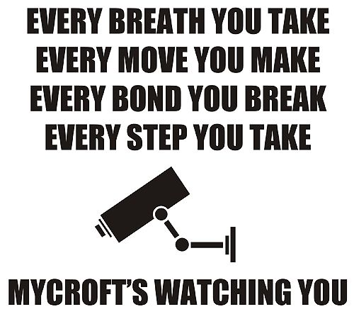 Mycroft is watching <-- he literally is Big Brother! <--- omg so I'm not the only one who's read 1984?!