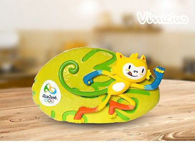 Brazil Rio 2016 Olympic Mascot Athletic Vinicius Piggy Bank 150X45mmPVCNew!