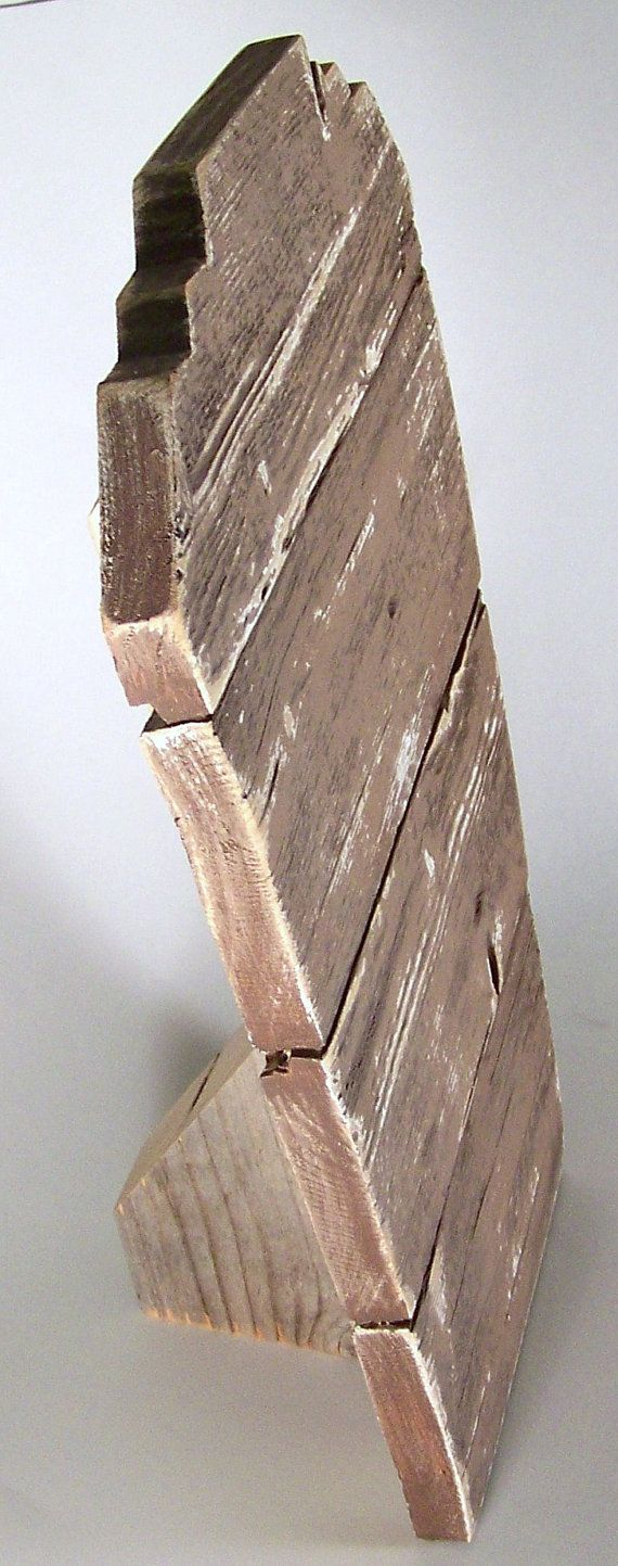 Jewelry Display Easel Rustic Aged Wood with distressed by DITR--great for my western jewelry