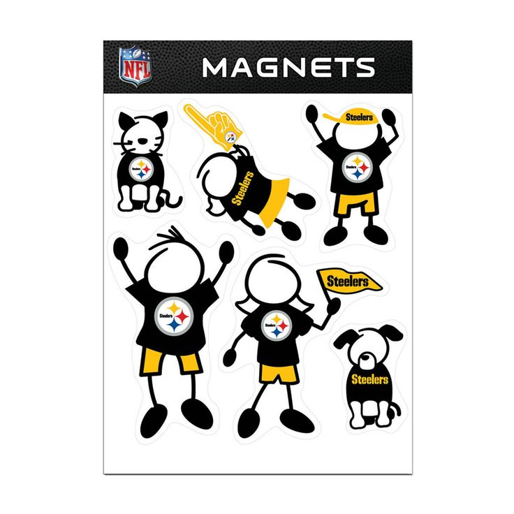 Siskiyou Pittsburgh Steelers Sports Team Logo Family Magnet Set