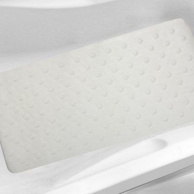 Sweet Home Collection Jumbo Rubber Non Slip Suction Cup Bathtub Mat - IRIS-TUB-WHT