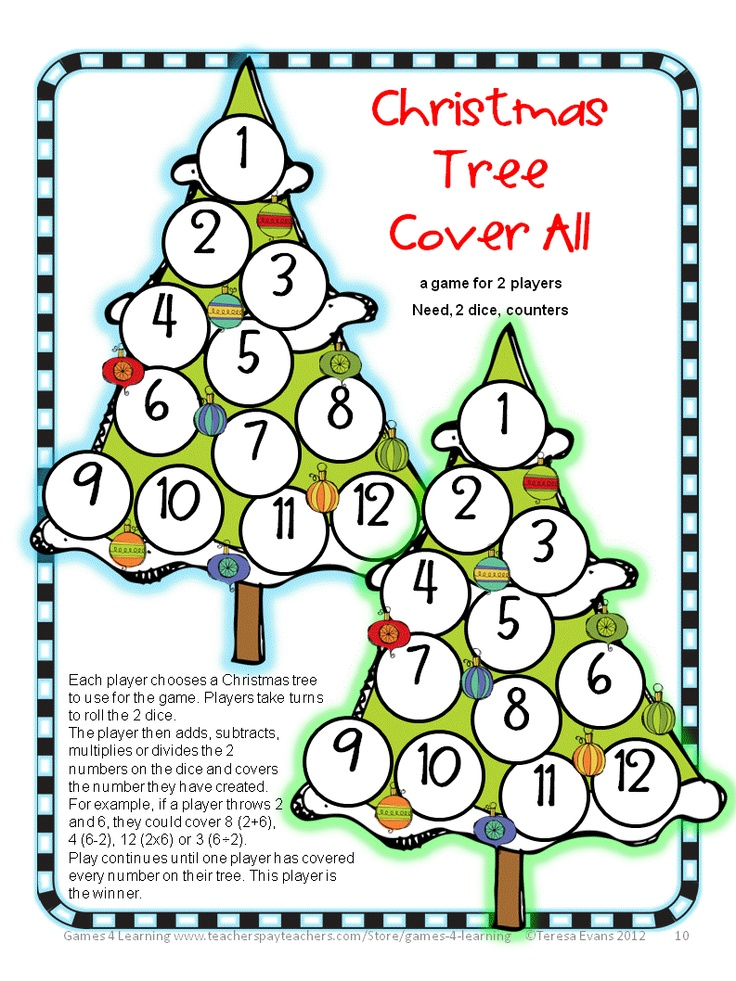Christmas Math Activities Games, Puzzles and Brain