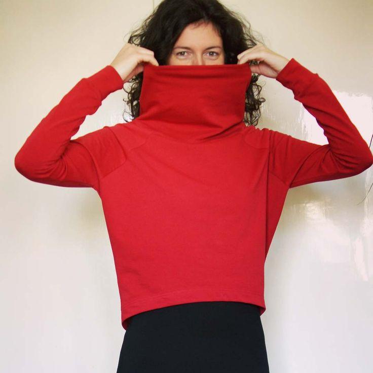Red batwing jumper sweater. Follow me on fb.  #batwingjumper #sweater #handmade #redsweater #slowfashion #unique #madebyme #kovacsdora #hungariandesigner #fashiondesigner #handmadestyle