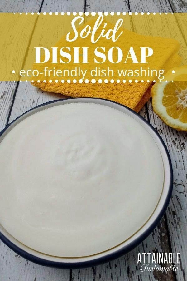 This Homemade Dish Soap Bar Will Change The Way You Wash Dishes