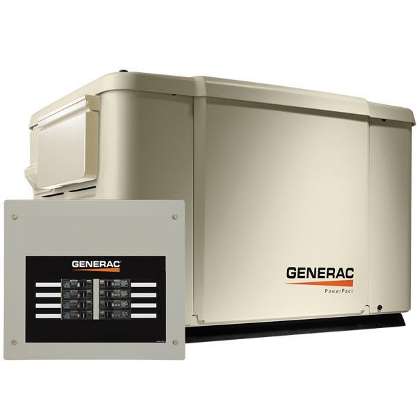 Generac Powerpact 7 5kw Home Standby Generator System 50 Amp 8 Circuit Ats 69981 In 2019 Transfer Switch Diy Generator Power Generator