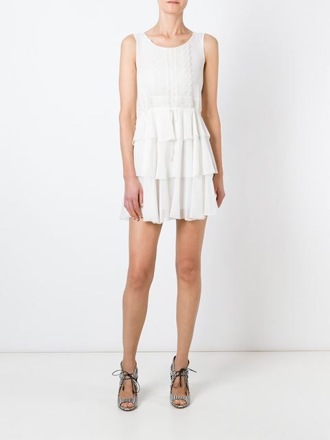Ermanno Scervino круженое платье с оборками