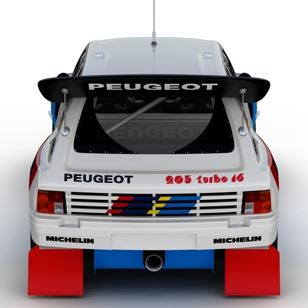 Peugeot 205 T16 Rally Car - White AR