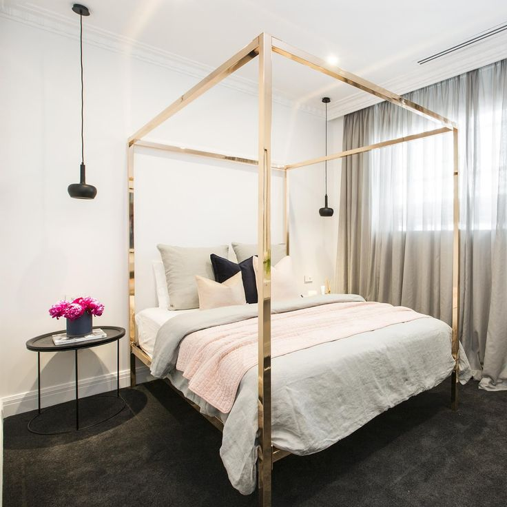 Did anyone else think that The Block's Julia & Sasha's  rose gold four poster bed was so  on fleek ! I was secretly crushing on it the whole...
