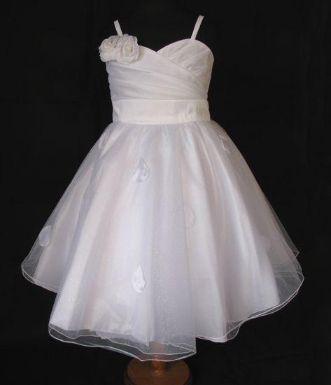 """Φορέματα για Παρανυφάκια - Επίσημα Φορέματα για Κορίτσια :: Μοναδικό Παιδικό Λευκό Φόρεμα για βάφτιση, Παρανυφάκι, """"Delphine"""" - http://www.memoirs.gr/"""