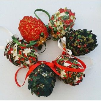 Beautifully handmade fabric decorations, different but they still retain that traditional feel