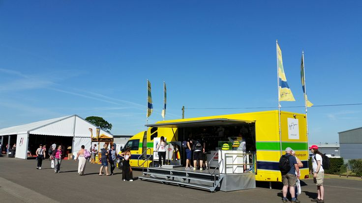 Ayrton Senna Shop Truck at Silverstone GP 2015
