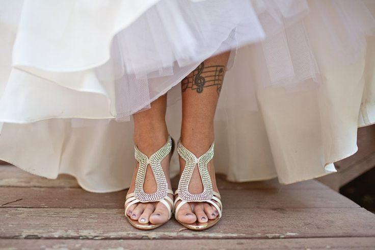 Rustic Wedding Brides Shoes