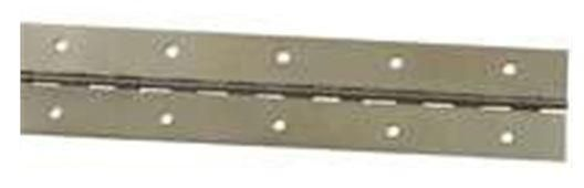 """Stanley 701338 Continuous Hinge, Bright Brass, 1.5"""" x 12"""""""