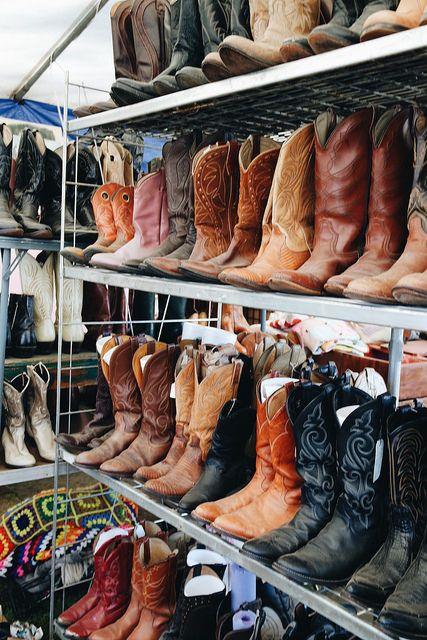 Cowboy Boots @ Texas Antiques Week in Warrenton