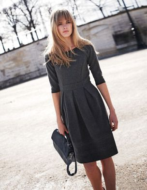 Plain but nice style - love the long sleeves and fitted waist.