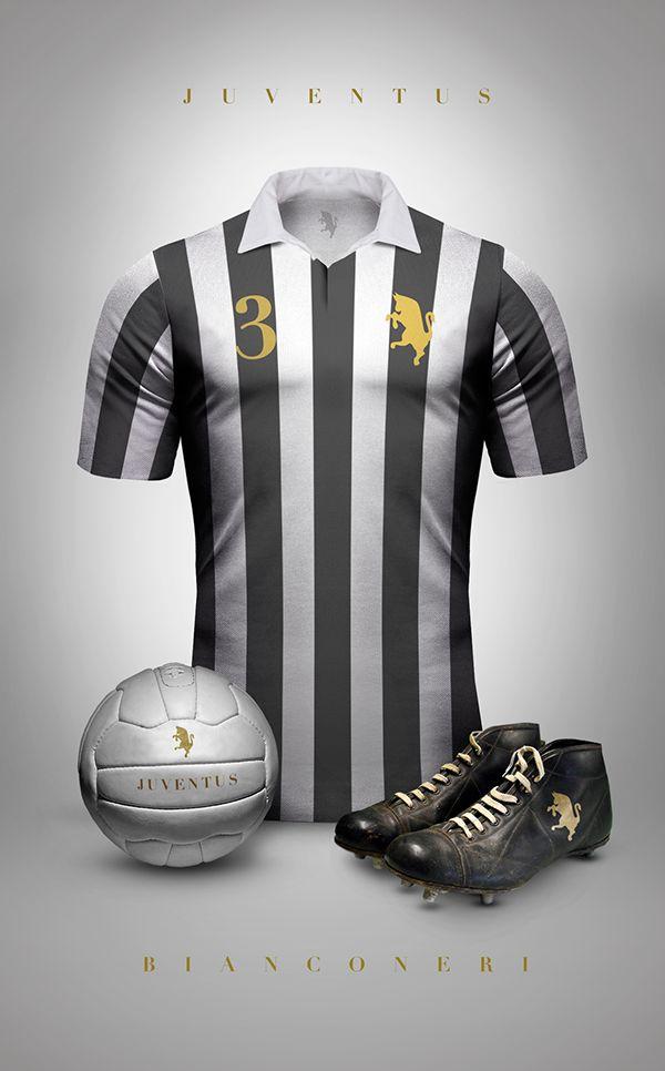 Vintage Clubs II on Behance - Emilio Sansolini - Graphic Design Poster - Juventus - Bianconeri