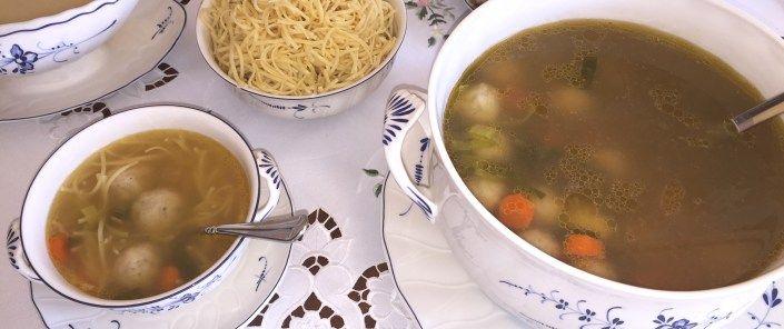 Beef Soup with Bone Marrow Dumplings (Rindfleischsuppe mit Markklöβchen)