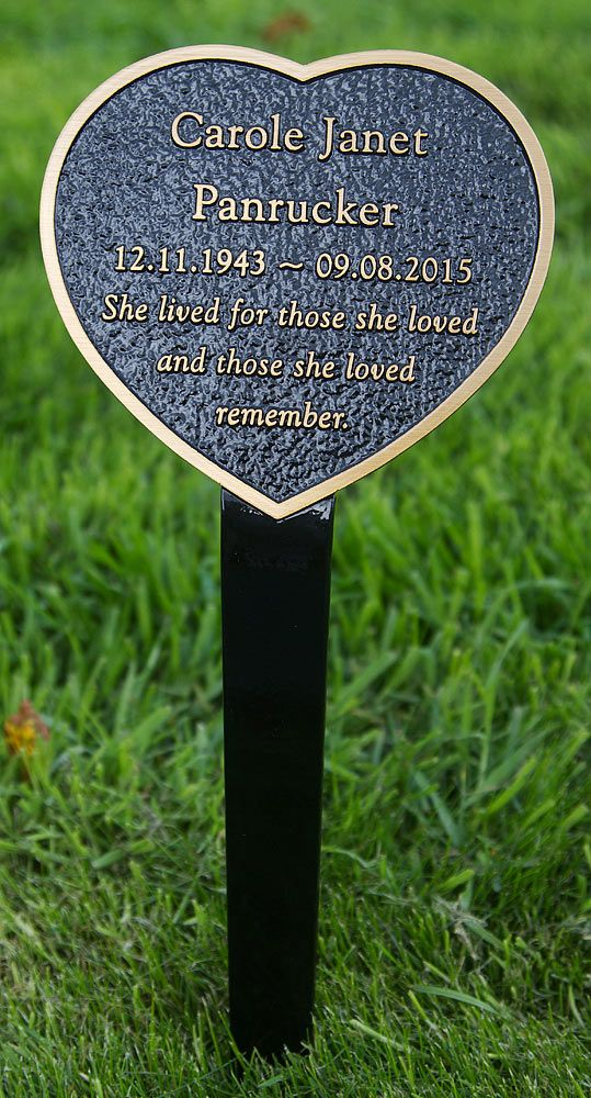 This beautiful bronze memorial plaque has a tree stake attached. It is not only beautiful but also strong and long lasting. The background colour can be black, brown, blue or green. https://wordpress.com/post/41591180/2106/