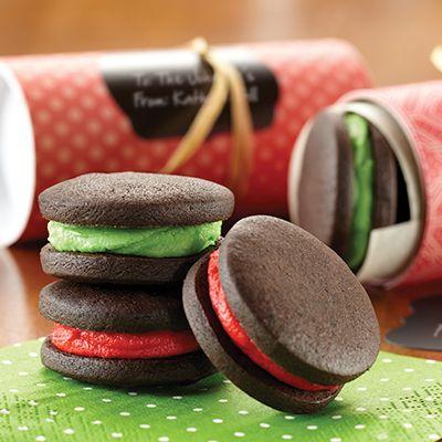 Dark Chocolate Mint Sandwich Cookies