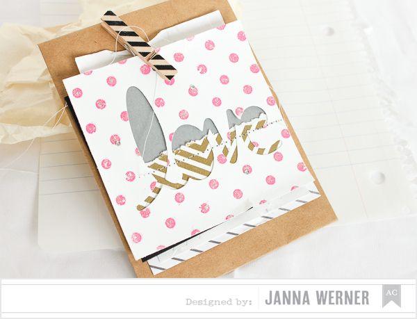 Janna Werner: American Crafts ♥ Valentine's Day Blog Hop   envelope, voucher