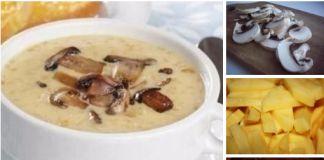 Грибной суп с сыром. Аромат на весь дом!