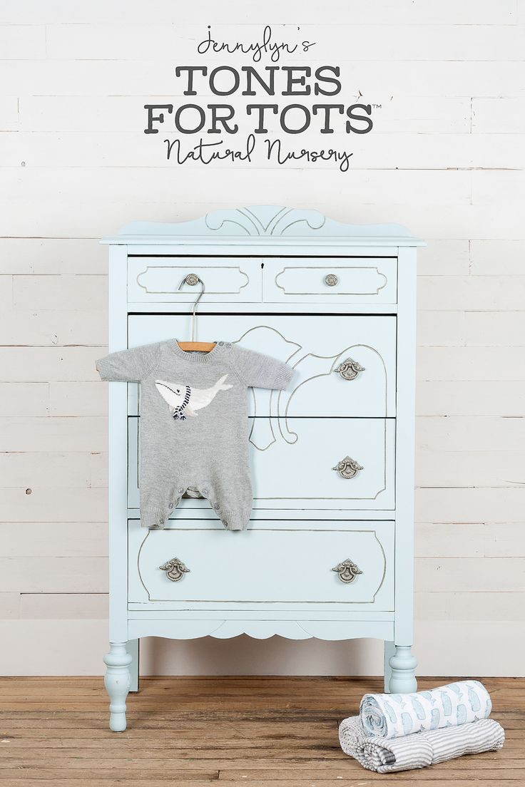Little Whale Jennylyn's Natural Nursery Tones for Tots Make a big splash with this calming, lake blue that adds tranquility to any space. Use it on big pieces like dressers to paint on some zen. http://fusionmineralpaint.com/products/tones-for-tots/