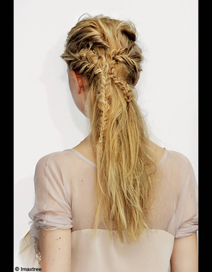 Beaute look tendance conseils cheveux coiffure queue cheval tressee dos