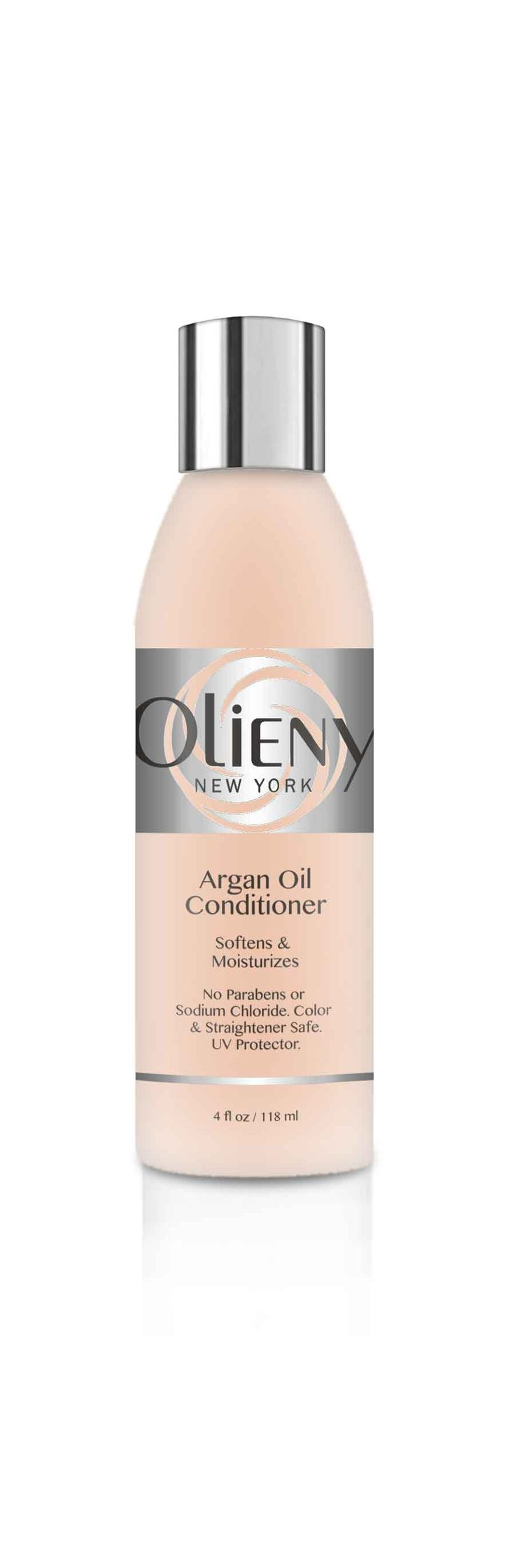This creamy hydrating conditioner, infused with the fi nest Moroccan Argan Oil, gently detangles and moisturizes without weighing hair  down. Rich in vitamins and antioxidants to help strengthen dry, brittle hair. Calms frizzy ends. Argan Oil is a natural UV protectant and  hydrator. Great for soft curls and extensions. Safe for colored, straightened and chemically-treated hair.