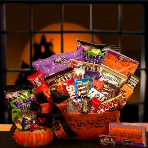 149 best gift basket fun images on pinterest gift ideas no tricks just treats halloween candy gift basket for kids negle Gallery