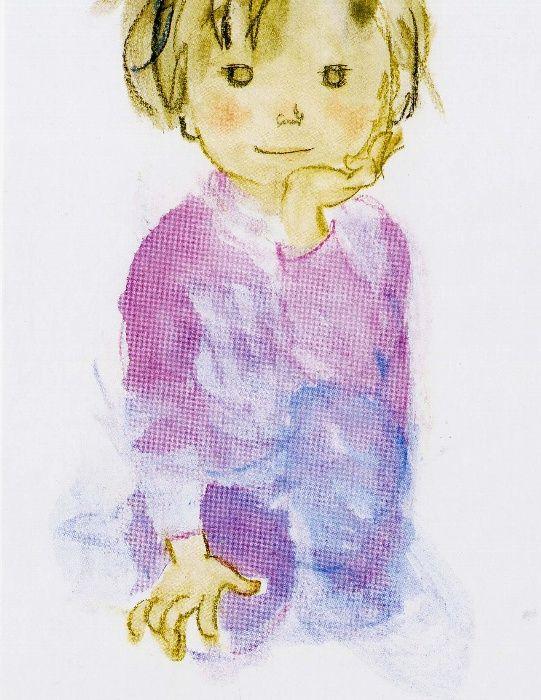 Chihiro IWASAKI, Japan いわさきちひろ My favorite watercolor artist!