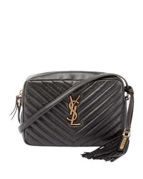 1f77a250432b Get free shipping on Saint Laurent Loulou Monogram YSL Medium Chevron  Quilted Leather Camera Shoulder Bag - Brilliant Golden Hardware at Neiman  Marcus.