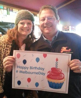 Wonderland Fun Park, Docklands, representatives getting behind Melbourne Day. #MelbourneDay