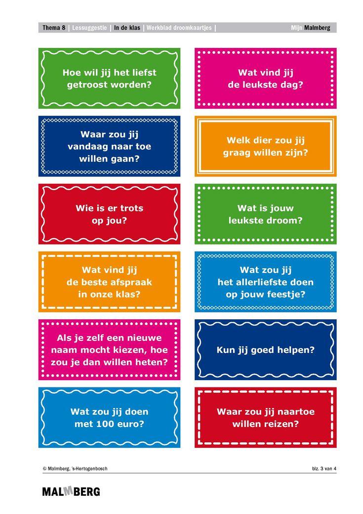 Droomkaartjes om over na te denken, om over te kletsen en om over te dagdromen