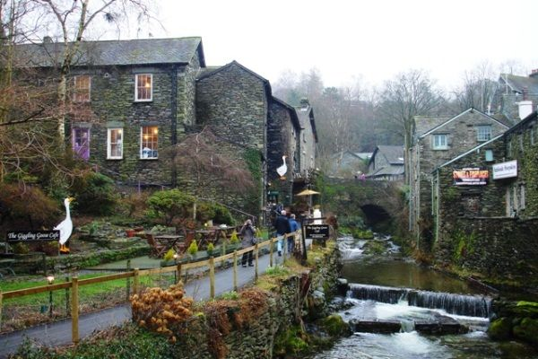 Stock Ghyll, Ambleside, Lake District. Gray and wet, just as I remember it.